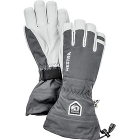 Hestra Army Leather Heli Ski 5 Finger Gloves Grey